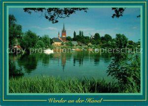 AK / Ansichtskarte Werder_Havel Kirche Panorama Werder Havel Kat. Werder