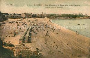 AK / Ansichtskarte Dinard_Ille_et_Vilaine_Bretagne Vue generale de la Plage cote de la Malouine Dinard_Ille Kat. Dinard