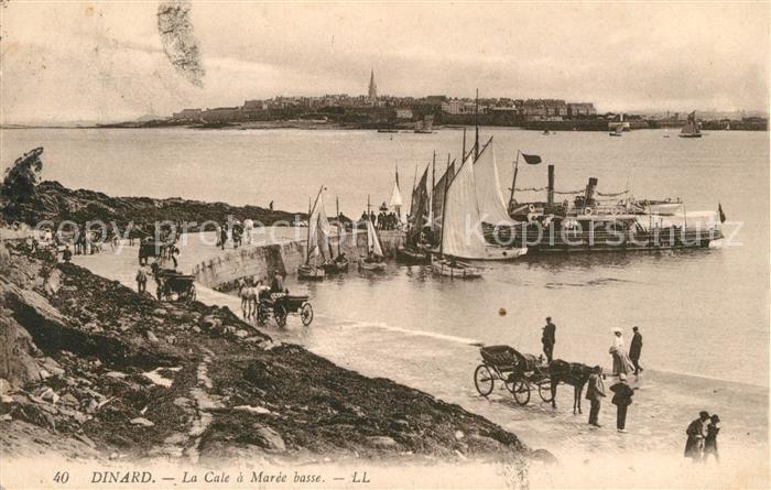 AK / Ansichtskarte Dinard_Ille_et_Vilaine_Bretagne La Cale a Maree basse Dinard_Ille Kat. Dinard