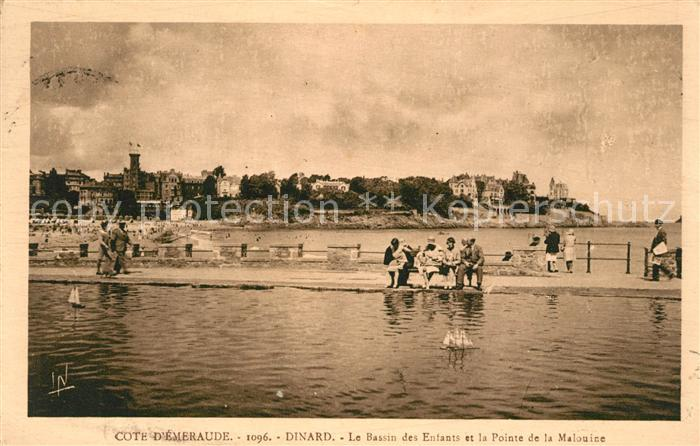 AK / Ansichtskarte Dinard_Ille_et_Vilaine_Bretagne Le Bassin des Enfants et la Pointe de la Malouine Dinard_Ille Kat. Dinard