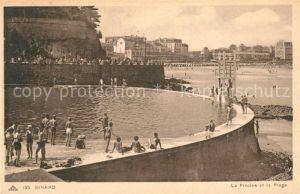 AK / Ansichtskarte Dinard_Ille_et_Vilaine_Bretagne La Piscine et la Plage Dinard_Ille Kat. Dinard