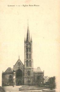 AK / Ansichtskarte Limoges_Haute_Vienne Eglise Saint Pierre Limoges_Haute_Vienne Kat. Limoges