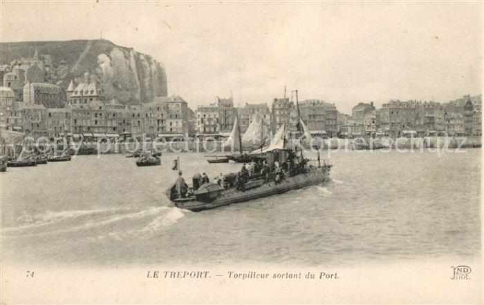 AK / Ansichtskarte Le_Treport Torpilleur sortant du Port Le_Treport Kat. Le Treport