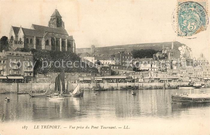 AK / Ansichtskarte Le_Treport Vue prise du Pont Tournant Le_Treport Kat. Le Treport