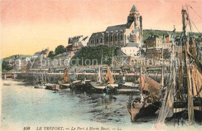 AK / Ansichtskarte Le_Treport Le Port a Maree Basse Le_Treport Kat. Le Treport