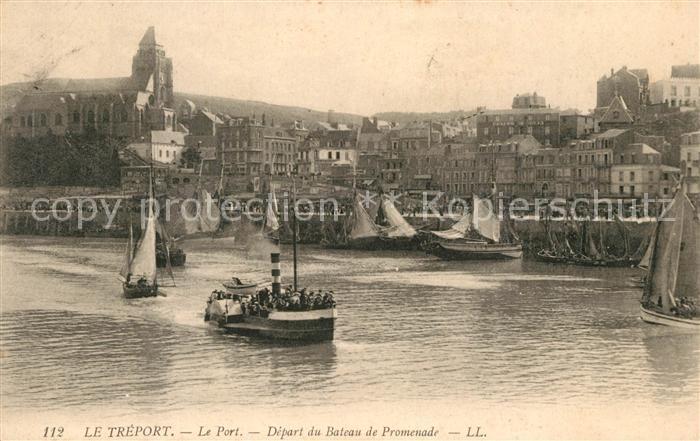 AK / Ansichtskarte Le_Treport Le Port Depart du Bateau de Promenade Le_Treport Kat. Le Treport