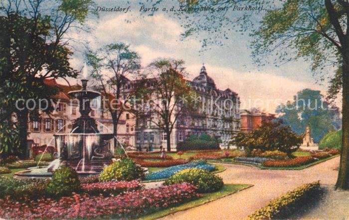 AK / Ansichtskarte Duesseldorf Koenigsallee Parkhotel Duesseldorf Kat. Duesseldorf