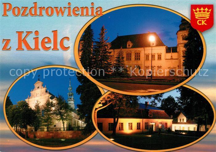 AK / Ansichtskarte Kielce Palac biskupow krakowskich Bazylika katedralna  Kielce Kat. Kielce