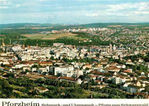 AK / Ansichtskarte Pforzheim Panorama Blick vom Wallberg Innenstadt Buckenberg Neubaugebiet Haidach Schmuck  und Uhrenstadt Pforte zum Schwarzwald Pforzheim Kat. Pforzheim