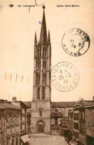 AK / Ansichtskarte Limoges_Haute_Vienne Eglise Saint Michel Limoges_Haute_Vienne Kat. Limoges