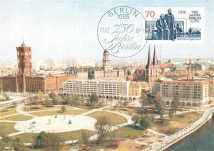 AK / Ansichtskarte Berlin Marx Engels Forum 750 Jahre Berlin Stempel Berlin Kat. Berlin