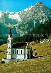 AK / Ansichtskarte Trafoi_Suedtirol Kirche Ortler Gletscher Trafoi Suedtirol Kat. Stilfs