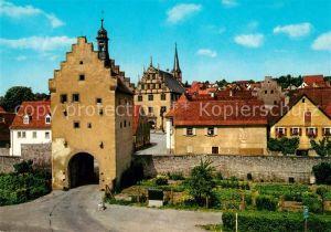 AK / Ansichtskarte Sulzfeld_Main Oberer Maintorturm und Rathaus Sulzfeld Main Kat. Sulzfeld a.Main