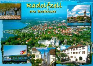 AK / Ansichtskarte Radolfzell_Bodensee Teilansichten Hafen Promenade Kirche Fliegeraufnahme Radolfzell Bodensee Kat. Radolfzell am Bodensee