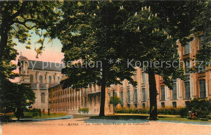 AK / Ansichtskarte Arras_Pas de Calais Palais Saint Vaast Cathedrale Arras_Pas de Calais Kat. Arras