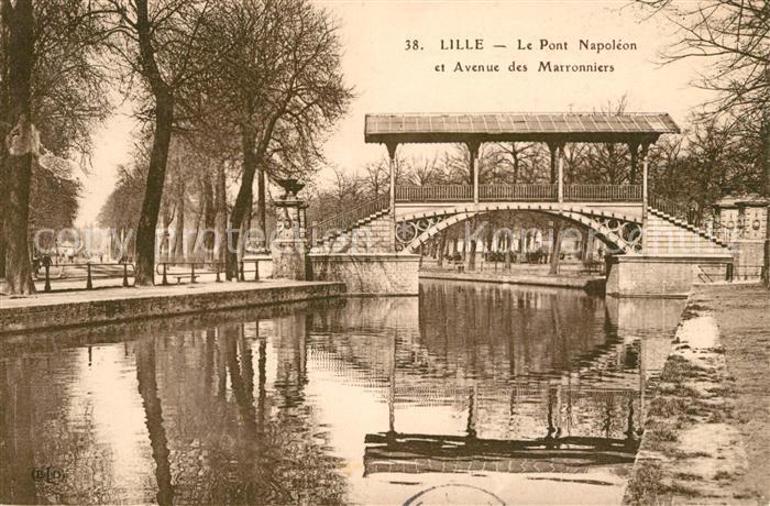 AK / Ansichtskarte Lille_Nord Pont Napoleon Avenue des Marronniers Lille_Nord Kat. Lille