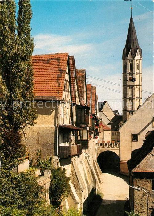 AK / Ansichtskarte Lauingen_Donau Oberes Brunnental genannt Wasserschapf Geburtsort von Albertus Magnus Lauingen Donau Kat. Lauingen (Donau)