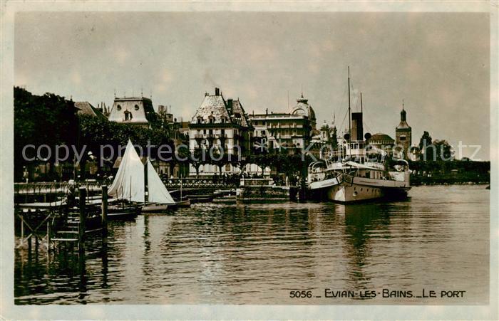 AK / Ansichtskarte Evian les Bains_Haute_Savoie Le Port Evian les Bains_Haute Kat. Evian les Bains