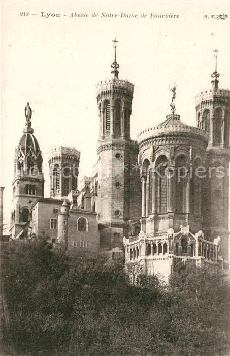 AK / Ansichtskarte Lyon_France Abside de Notre Dame de Fourviere Lyon France Kat. Lyon