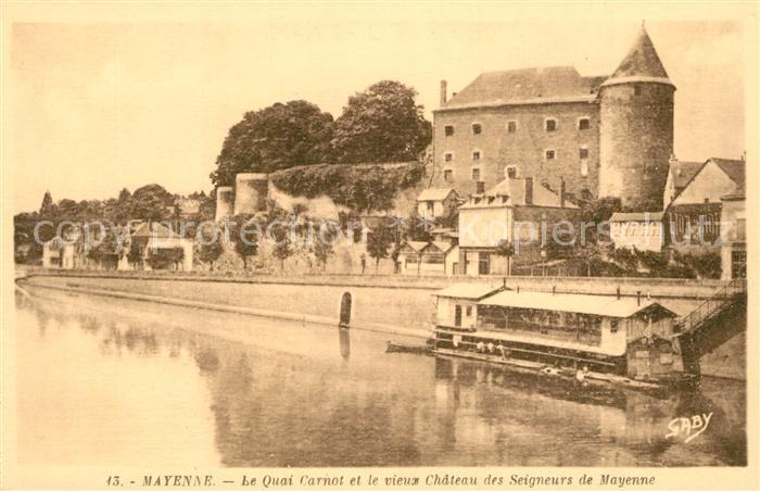 AK / Ansichtskarte Mayenne Schloss Quai Carnot  Mayenne Kat. Mayenne