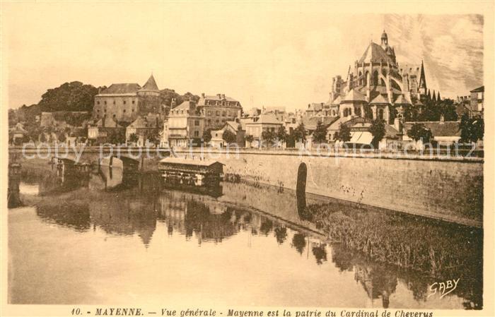 AK / Ansichtskarte Mayenne Uferpomenade Notre Dame Mayenne Kat. Mayenne