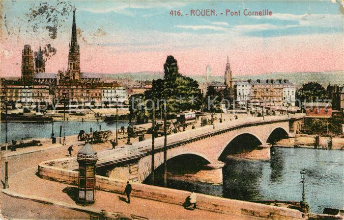 AK / Ansichtskarte Rouen Pont Corneille Kirche Rouen Kat. Rouen