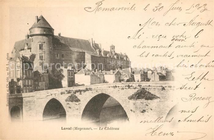 AK / Ansichtskarte Laval_Mayenne Chateau Laval Mayenne Kat. Laval