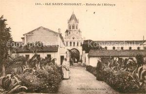 AK / Ansichtskarte Ile_Saint Honorat_Alpes_Maritimes Entree de l Abbaye Ile_Saint Honorat