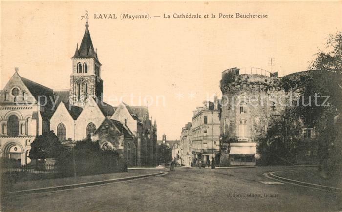 AK / Ansichtskarte Laval_Mayenne Cathedrale Porte Beucheresse Laval Mayenne Kat. Laval