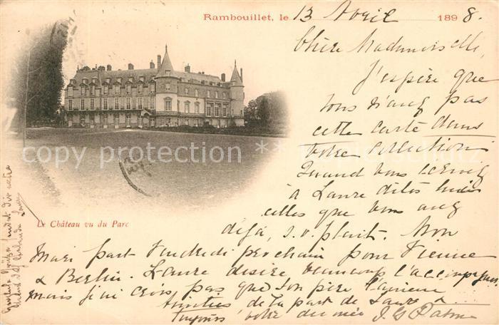 AK / Ansichtskarte Rambouillet Chateau vu du Parc Rambouillet Kat. Rambouillet