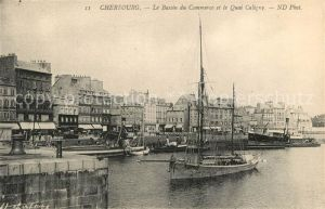 AK / Ansichtskarte Cherbourg_Octeville_Basse_Normandie Bassin du Commerce Quai Caligny Cherbourg_Octeville Kat. Cherbourg Octeville