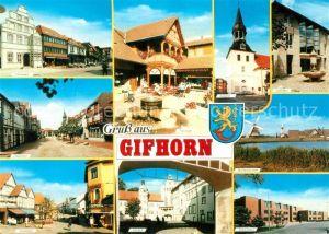 AK / Ansichtskarte Gifhorn Rathaus Schloss Steinweg Gifhorn Kat. Gifhorn