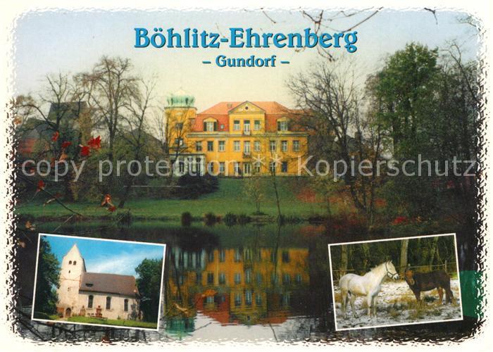 AK / Ansichtskarte Boehlitz Ehrenberg Gut Schloss Gundorf Kirche Reiterhof Boehlitz Ehrenberg Kat. Leipzig