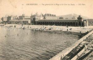 AK / Ansichtskarte Cherbourg_Octeville_Basse_Normandie Panorama Plage Fort du Roule Cherbourg_Octeville Kat. Cherbourg Octeville