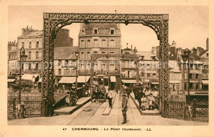 AK / Ansichtskarte Cherbourg_Octeville_Basse_Normandie Pont Tournant Cherbourg_Octeville Kat. Cherbourg Octeville