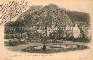 AK / Ansichtskarte Cherbourg_Octeville_Basse_Normandie Jardin Public Fort du Roule Cherbourg_Octeville Kat. Cherbourg Octeville