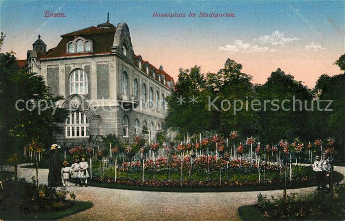 AK / Ansichtskarte Essen_Ruhr Rosenplatz im Stadtgarten Essen_Ruhr Kat. Essen