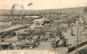 AK / Ansichtskarte Marseille_Bouches du Rhone Bassins et Quais de la Joliette Marseille