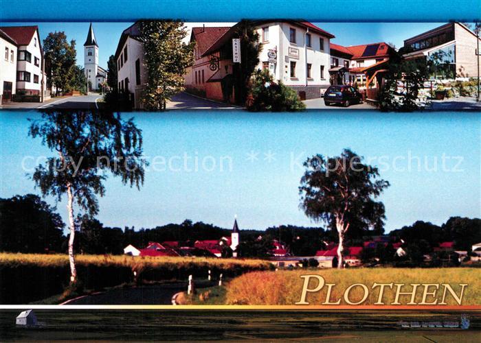 AK / Ansichtskarte Plothen Kirche Gasthof Moosanger Zum Plothenteich Plothen