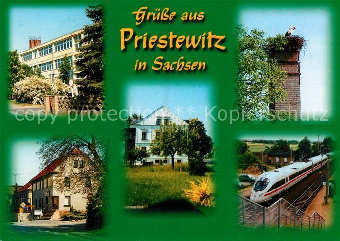 AK / Ansichtskarte Priestewitz Eisenbahn Storch Priestewitz