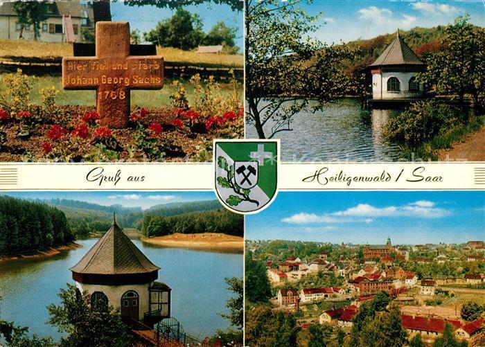AK / Ansichtskarte Schiffweiler Heiligenwald Grab Johann Georg Sachs Panorama Schiffweiler