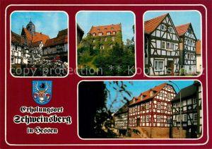 AK / Ansichtskarte Schweinsberg Altstadt Fachwerkhaeuser Schweinsberg