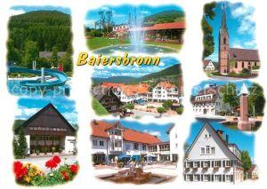 AK / Ansichtskarte Baiersbronn_Schwarzwald Teilansichten Luftkurort Freibad Rutschbahn Hotel Restaurant Kirche Baiersbronn Schwarzwald