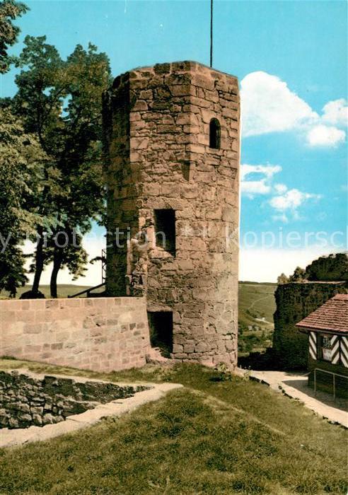 AK / Ansichtskarte Weinsberg Burgruine Weibertreu Achteckiger Turm Weinsberg