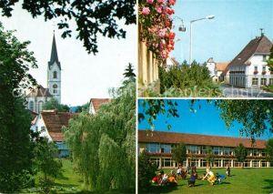 AK / Ansichtskarte Villingendorf Goldmedaille im Wettbewerb Unser Dorf soll schoener werden Kirche Strassenpartie Schule Villingendorf