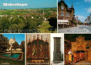 AK / Ansichtskarte Wasseralfingen Stadtpanorama Wilhelmstrasse St Stephanus Kirche Schaffneraltar Ofen Besucherbergwerk Wasseralfingen