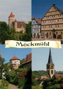 AK / Ansichtskarte Moeckmuehl Schloss Turm Rathaus Kirche Moeckmuehl