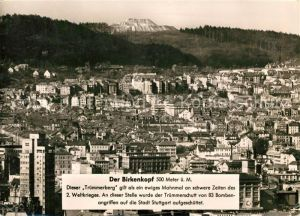 AK / Ansichtskarte Stuttgart Blick zum Birkenkopf  Stuttgart