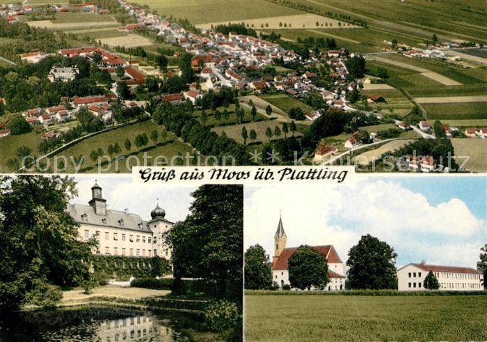 AK / Ansichtskarte Moos_Niederbayern Fliegeraufnahme Kirche  Moos Niederbayern