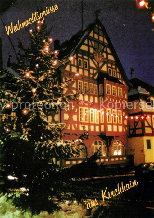 AK / Ansichtskarte Kirchhain_Hessen Marktplatz Altstadt Christbaum ...